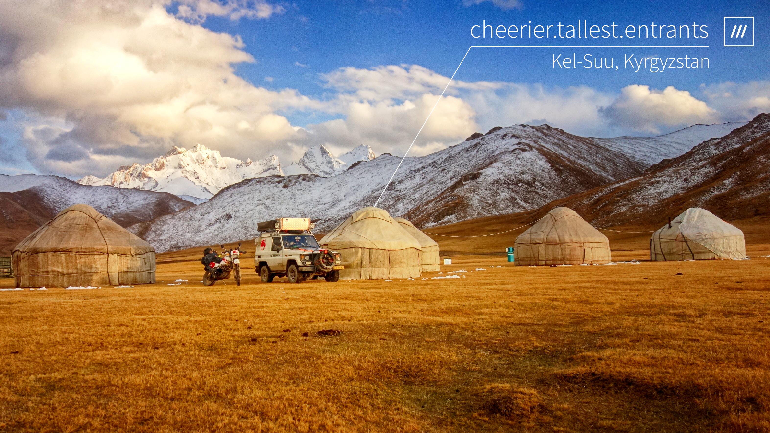 Six Wheels East, Kel-Suu, Kyrgyzstan